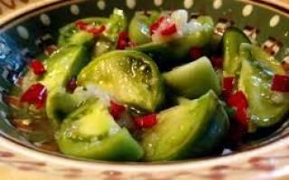 Солёные зелёные помидоры холодным способом: лучшие рецепты, пошаговая инструкция приготовления