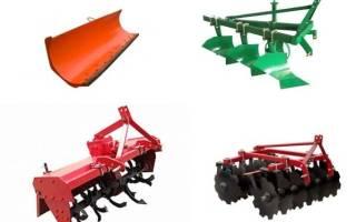 Виды и выбор навесного оборудования для мини-тракторов