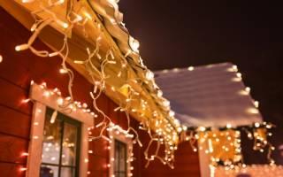 Украшаем дом и сад к Рождеству: праздничная иллюминация