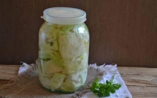 Острая капуста маринованная крупными кусками: 6 рецептов быстрого приготовления